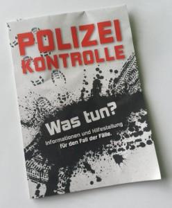 Infoflyer Polizeikontrolle