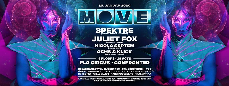 MOVE mit Spektre, Juliet Fox, Nicola Septem